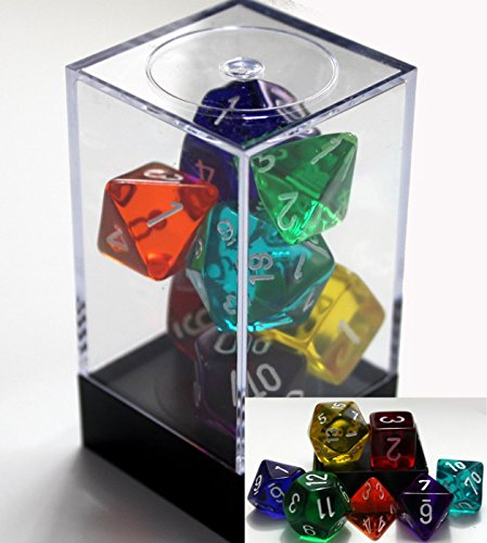 Polyhedral 7-Die Translucent Chessex Dice Set - Rainbow - 1