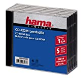 Hama Cd-rom Jewel Case, Pack Of 5 Pieces