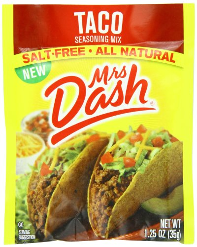Mrs Dash Seasoning Mix, Taco, 1.25 Ounce (Pack of 12) (Sodium Free Foods compare prices)