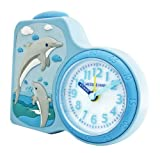 Jacques Farel Kids Childrens Alarm Clock with Dolphin Design Alarm Clock for Learning with Lighting and Repetition