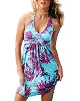Andyshi Women's Deep V-Neck Bikini Strap Halter Beach Dress