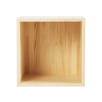 Estante, moderno Simples de madera sólida madera de pino multifunción casilleros de almacenamiento de la caja de estantería rejilla con backplane 400 * 400 * 400 mm