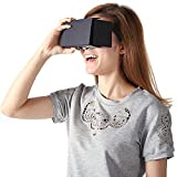 Linkcool Google Cardboard V2.0 3d Glasses Vr Virtual Reality Cardboard Kit 2015 for 3--6inch Screen(black)