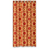 "Luxury Golden Patterns In Red Background Shower Curtain 36""x72"" New Waterproof Polyester Fabric Curtain"