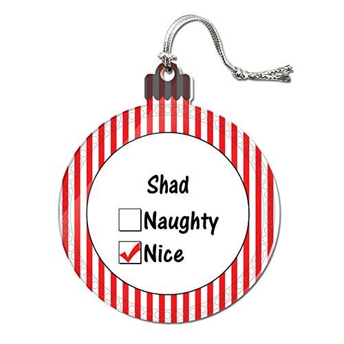 Acryl Weihnachtsbaum Urlaub Nice Ornament Namen Stecker sa-sh, Shad