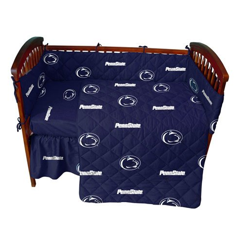 Penn State Baby Crib Fitted Sheet - Solid - Penn State Nittany Lions front-1001356