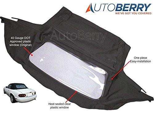 Mazda Miata Convertible Top with Plastic Window Black Cabrio 1989-2005 (1995 Convertible Top compare prices)