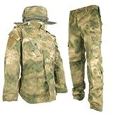 A-TACS FG リアルカラー BDU 迷彩服 戦闘服 上下 ブーニーハット セット 森林迷彩 (フォリッジグリーン) S