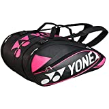 Yonex Pro Series Racquet Bag 9 Pcs -Black Rose Pink
