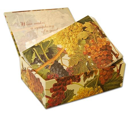 Vintage Grapes - Box Set of 10 Assorted textured