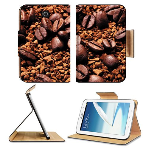 Espresso Coffee Beans Scatter Roasted Samsung Galaxy Note 8 Gt-N5100 Gt-N5110 Gt-N5120 Flip Case Stand Magnetic Cover Open Ports Customized Made To Order Support Ready Premium Deluxe Pu Leather 8 7/16 Inch (215Mm) X 5 11/16 Inch (145Mm) X 11/16 Inch (17Mm