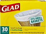Glad Small Garbage Bags, 4 Gallon 30 bags