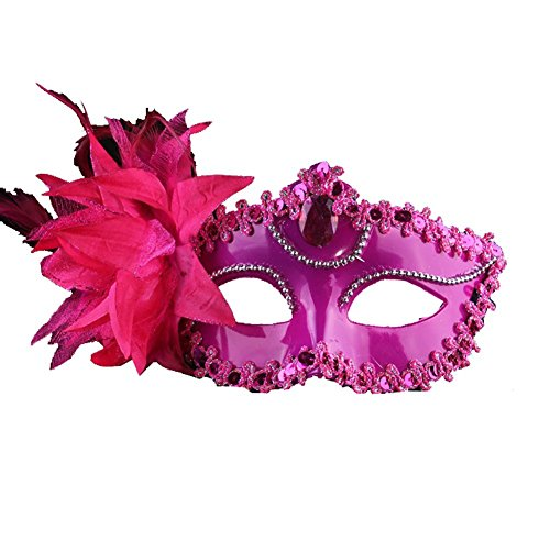 AoLice Venetian Lady Party Mask Halloween Masquerade Ball Mask Multicolor