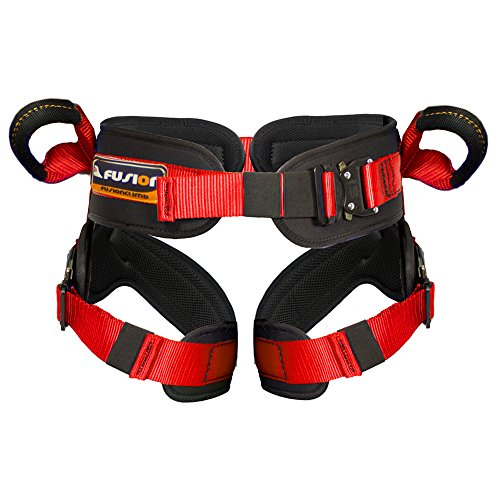 Fusion-Climb-Rebounder-Kids-Padded-Half-Body-Bungee-Trampoline-Harness-Red-S-M