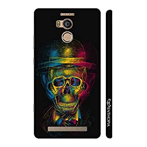 Enthopia Designer Hardshell Case PSYCHEDELIC SKULL 1 Back Cover for Gionee Elife E8