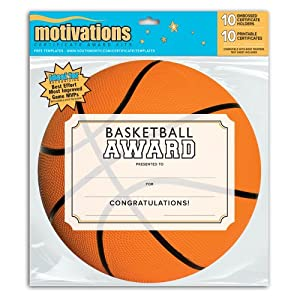 Southworth Basketball Athletic Award Kit, Certificates with Embossed Holders, 10 count (MSK-3)