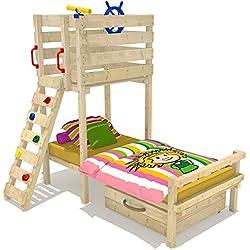 WICKEY Spielbett Captain Flynt Kinderbett Abenteuer-Bett inkl. Lattenboden 90x200cm