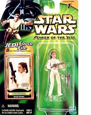 1 X Star Wars: Power of the Jedi Leia Organa (Bespin Escape) Action Figure