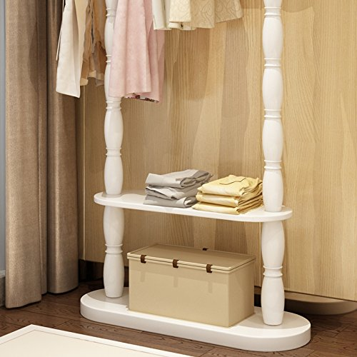Floor home hanger bedroom solid wood racks minimalist modern living room clothing racks 3