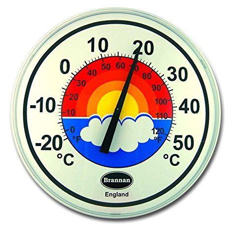 300mm White Patio Dial Thermometer