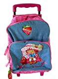 Strawberry Shortcake Luggage Backpack for Children -Small Kid Size Rolling Backpack