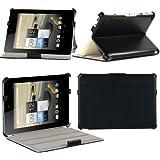 Housse Cuir Style luxe Ultra Slim Acer Iconia A1-810 16GB noire avec Multi Stand - Etui XEPTIO authentique tablette Acer Iconia A1-810 noir - Prix découverte Accessoires XEPTIO : Exceptional case !