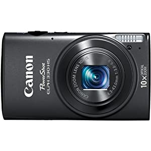 Canon PowerShot ELPH 330 12MP Digital Camera with 10x Optical Image Stabilized Zoom with 3-Inch LCD (Black)