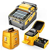 Qiirun Fusion Splicer AI-9 Toolbox Kit with Auto Focus and 6 Motors for Trunk Line Construction, FTTH and Cable Splicing Projects (Color: Yellow)