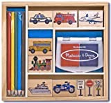 Melissa & Doug Vehicle Stamp Set - (child)