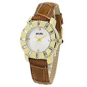 [フォリフォリ]Folli Follie 腕時計 WF5G115SPSSC ゴールド/クリスタル/ブラウン 革ベルト 時計 レディース [並行輸入品]