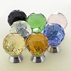 Glass Crystal Cabinet Drawer Knob Pull Door Handle Hardware 3cm