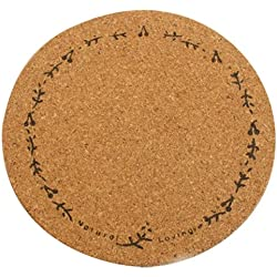 cup mat - SODIAL(R)1pcs Plain Round Cork Coasters Coffee Drink Tea Cup Mat Placemats Wine wreath
