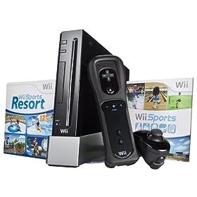 Wii Hardware Bundle - Black: Nintendo Wii: Video Games