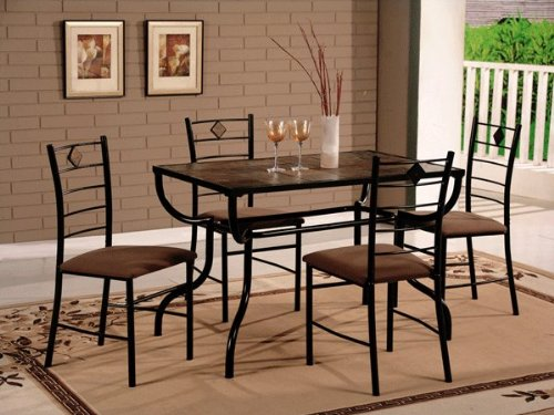 Stone Tile Top Dinettes Set 1 Table+4 Chairs