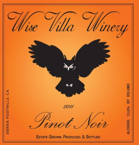 2011 Wise Villa Winery Sierra Foothills Pinot Noir 750 Ml