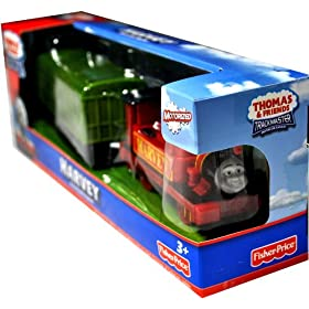 Thomas and Friends Trackmaster Motorized Railway Battery Powered Tank Engine 2 Pack Train Set - HARVEY the Crane Engine with Green Caboose