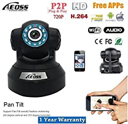Aeoss IP Camera Pan-Tilt security camera Onvif P2P HD IR CCTV 720P With TF Card Slot Wi-Fi