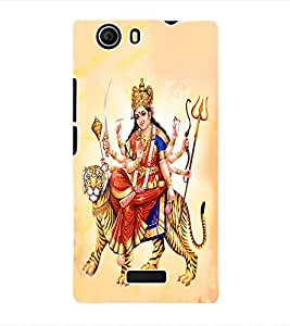 Fuson 3D Printed Lord Durga Designer Back Case Cover for Micromax Canvas Nitro 2 E311 - D512
