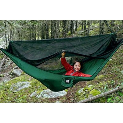 Hammock Bliss No-See-Um No More, Forest Green/Black Netting