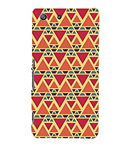 99Sublimation Triangular Pattern 3D Hard Polycarbonate Back Case Cover for Sony Xperia M5 Dual :: E5633 :: E5643 :: E5663