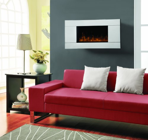 Dimplex DWF-13293A Reflections Wall-mount 40-Inches by 19-Inches Electric Fireplace, Stainless