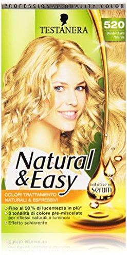 Testanera - Natural & Easy, Colori Trattamento Naturali e Espressivi, 520 Biondo Chiaro Naturale