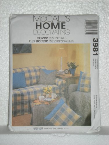 McCall's Sewing Pattern 3981 Home Decorating: Pillow Covers, Slip Covers