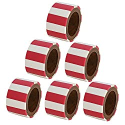 Indian Dcor Red and White Christmas Napkin Rings Holders Set of 6