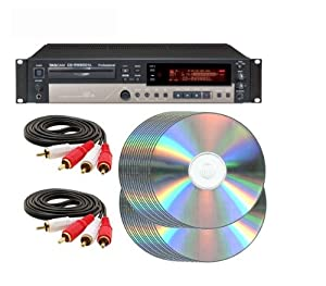 Tascam CD-RW900SL CD-R CD Recorder Recording Package with (2) RCA cables and (50) CD-R