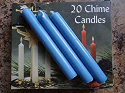 Light Blue Chime Candle 20 pack 4\