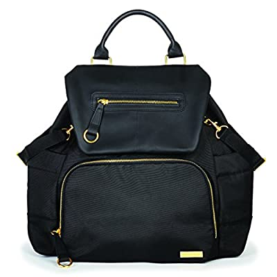 Skip Hop Baby Chelsea Downtown Chic Diaper Bag Backpack with Insulated Bottle Pockets and Cushioned Changing Mat, 12 Pockets, Black by Skip Hop that we recomend individually.
