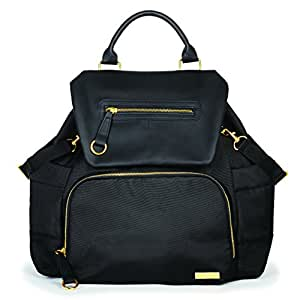 skip hop chelsea downtown chic diaper backpack black baby. Black Bedroom Furniture Sets. Home Design Ideas