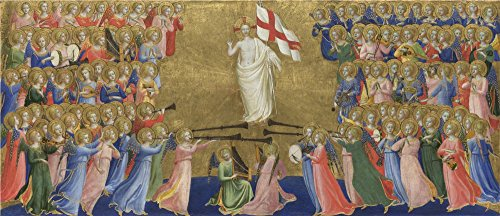 The Polyster Canvas Of Oil Painting 'Fra Angelico Christ Glorified In The Court Of Heaven ' ,size: 24 X 56 Inch / 61 X 141 Cm ,this Reproductions Art Decorative Canvas Prints Is Fit For Laundry Room Gallery Art And Home Decor And Gifts
