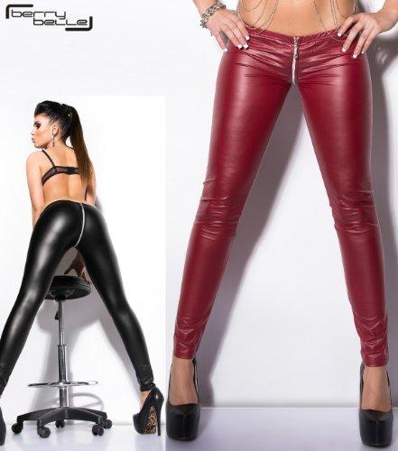 Sexy Full Zip Gogo SM Leggings Venus mit komplettem Reißverschluß von 2 Seiten zu öffnen